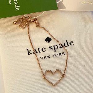 ❤️SALE❤️Kate Spade CZ pave heart bracelet